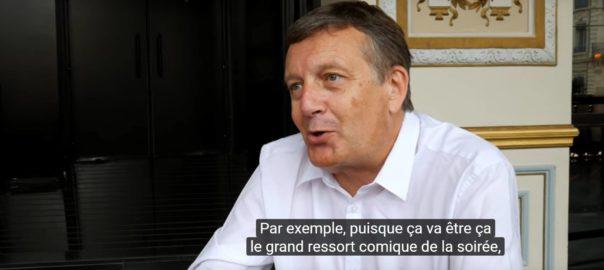 Image fixe présentant le Directeur de l'opéra de Lyon
